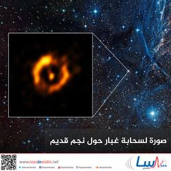 صورة لسحابة غبار حول نجم قديم