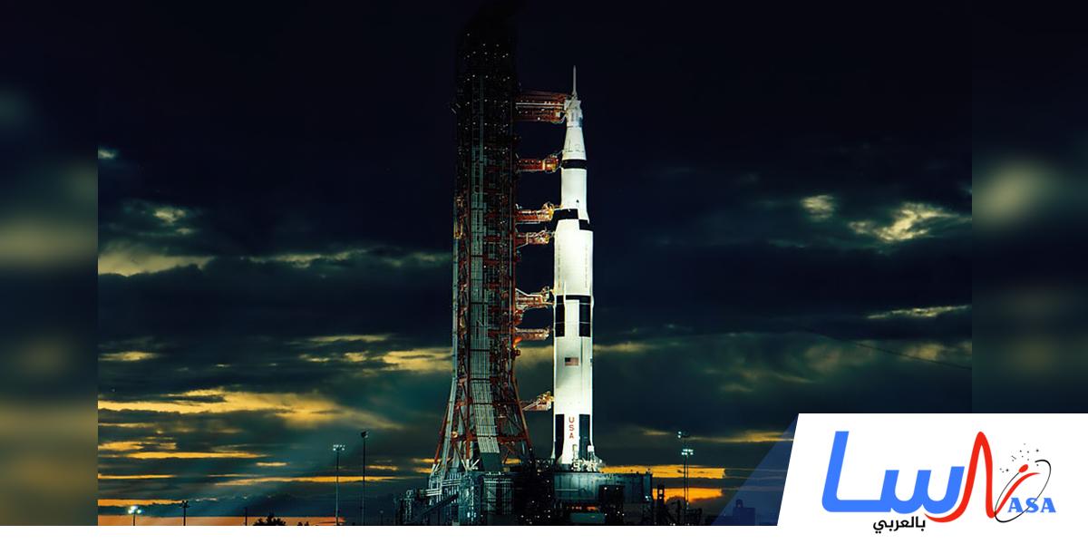 انطلاق صاروخ الفضاء