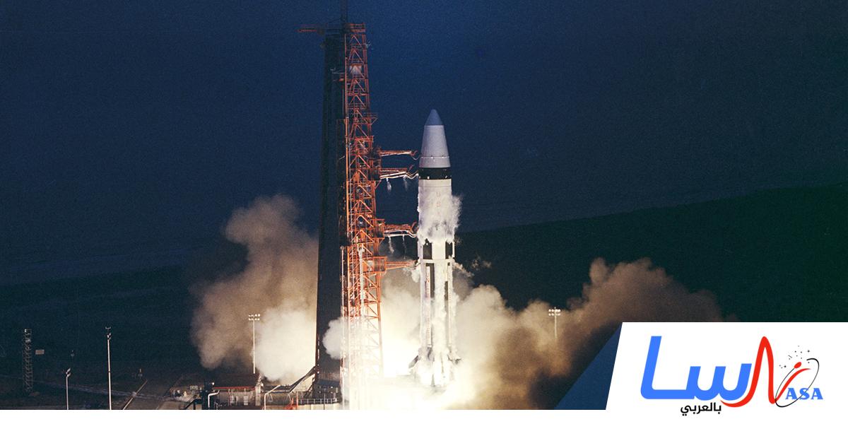 انطلاق أبولو 5 على متن الصاروخ