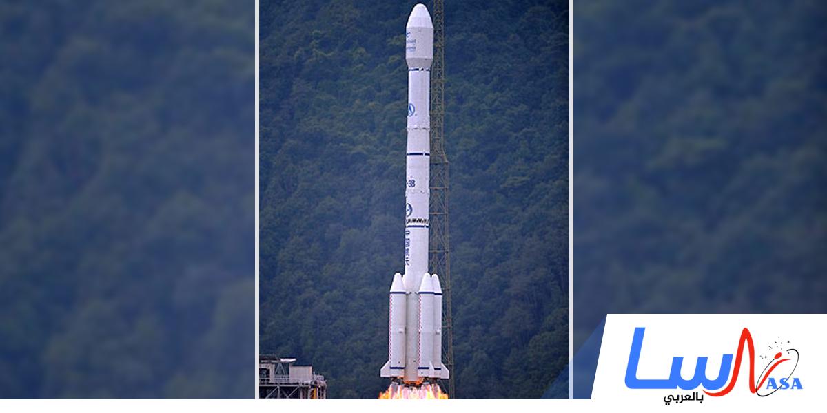 انفجار صاروخ الفضاء الصيني