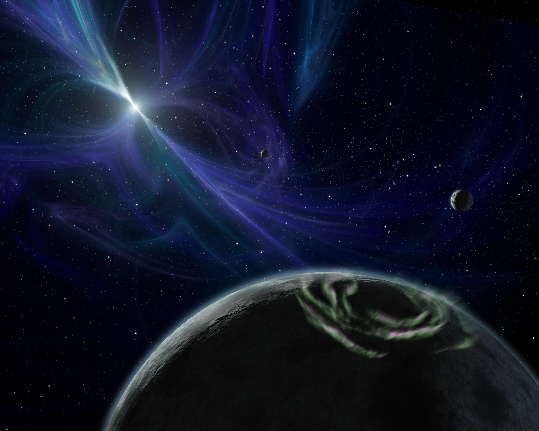 تصور فني لنظام الكواكب PSR B1257+12. حقوق الصورة: ناسا