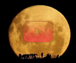 الصورة الظلية للقمر المكتمل