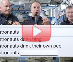 إجابات رواد فضاء محطة الفضاء الدولية لأسئلتكم